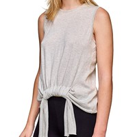 Double Tie Sleeveless Knit Tank Top