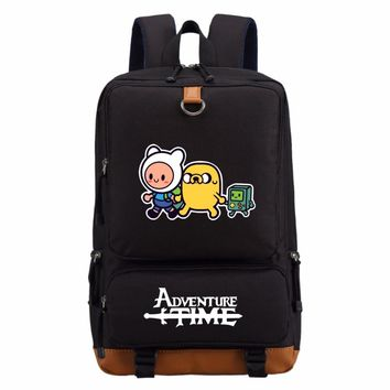WISHOT Adventure Time  Finn and Jake backpack Boy Girl for teenagers Student School Bags travel Shoulder Bag Laptop Bags bookbag