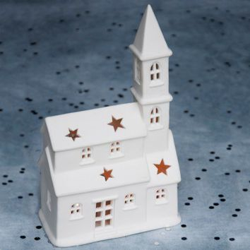 Christmas Cathedral Tealight Holder