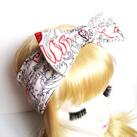 Lovely Paramore lover white bow headband :) Love Factory By Rie Miyamoto