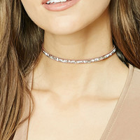 Rhinestone and Geo Stud Choker