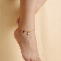 Sexy Stylish Cute Ladies New Arrival Jewelry Shiny Gift Accessory Summer Sea Tassels Anklet [7240940039]