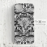 Lace iPhone 4 case - iPhone 4s case, iPhone 5 case, High quality 3D printing, lingerie, floral, designer - black lace (c111)