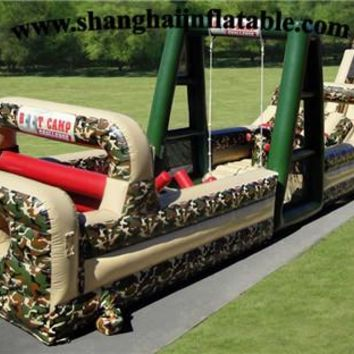 Outdoor Inflatable Obstacle Course Kids Outdoor Amazing Bounce Inflatable Playground