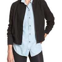 Banana Republic Womens Factory Soft Bomber Jacket