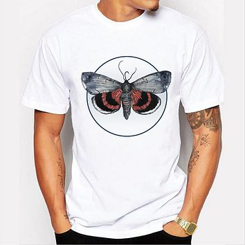 Men's Printed Designer T-Shirt Summer Black Butterfly Graphic Hip hop Top