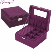 Guanya brand style 4 color practical jewelry box