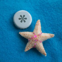 teeny beaded felt star fish