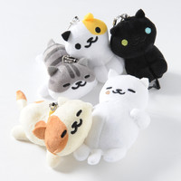 Nekoatsume Mascot Plushies w/ Phone Cleaner