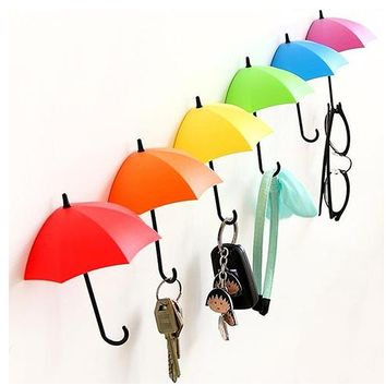 3 pieces Umbrella Shaped Creative Key Hanger