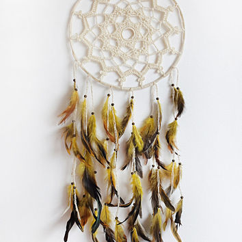 Dreamcatcher,  Crochet Dreamcatcher, Handmade, Boho, Rustic Dreamcatcher, Wall Hanging, Home Decor