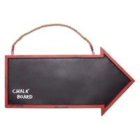 VIP International Red Framed Arrow Chalkboard | Hayneedle