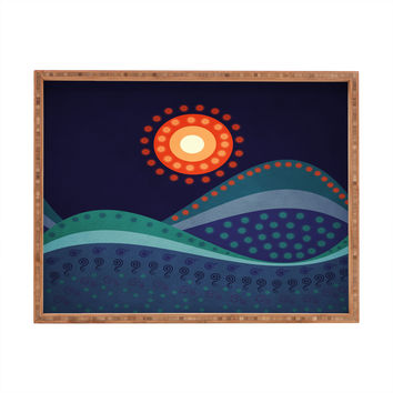 Viviana Gonzalez Summer Night Rectangular Tray
