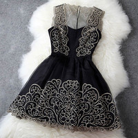 Sexy Perspective Hollow Out  Dress