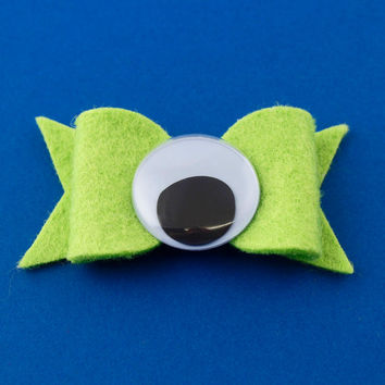 Mike Wazowski Hair Bow - Monster's Inc Felt Hair Bow - Disney Inspired