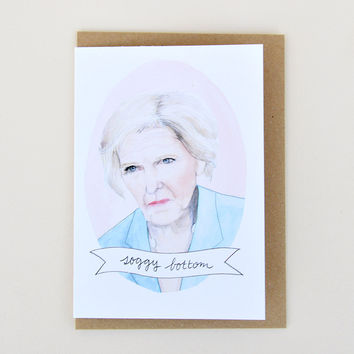 Mary Berry 'Soggy Bottom' Greeting Card by Oh Gosh Cindy
