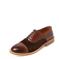 Modern Fiction Men's Cap Toe Oxford - Dark Brown -