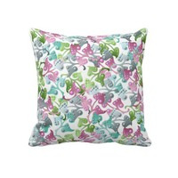 Fairy Leaf Pattern Throw Pillow from Zazzle.com