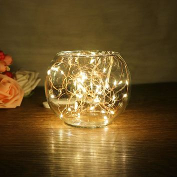2m 20-LED Copper Wire String Light for Glass Craft Bottle Fairy Valentines Wedding Decoration Lamp Christmas