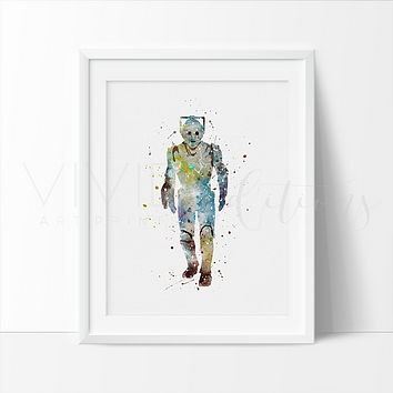 Cyberman Watercolor Art Print