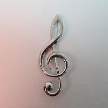 BEAU Sterling Music Note Pin