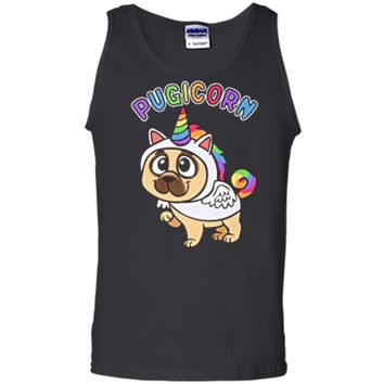 Funny Pug  Majestic Unicorn Pugicorn Dog  Tank Top