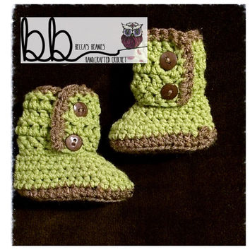 Baby Ugg Style Boots Crochet - Newborn to 12 month - made to order