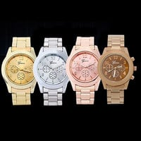 MAN New Fashion Ladies Women Girl Unisex Stainless Steel Quartz Wrist Watch, bracelet watch , unisex watch = 1956894980