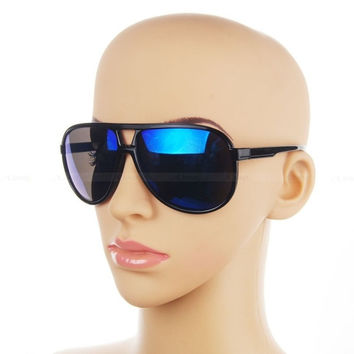 Classic Retro Sunglasses 70s Vintage Mens Womens Shade Pilot Cop Glasses (Color: Black) = 1945964612