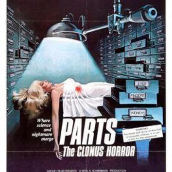 Parts The Clonus Horror Movie poster Metal Sign Wall Art 8in x 12in