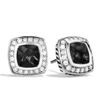 Petite Albion Earrings with Black Onyx and Diamonds - David Yurman