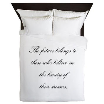 Duvet Cover - Black and White Duvet Cover - Inspirational Duvet Cover - Black and White Bedding - Teen Duvet Cover - Girls Duvet Cover