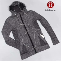 Lululemon Women Fashion Hooded Gym Yoga Cardigan Jacket Coat