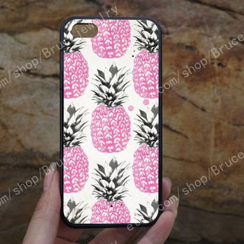 pink pineapple  iPhone Case,samsung case,iPhone 5C 5/5S 4/4S,samsung galaxy S3/S4/S5,Personalized Phone case