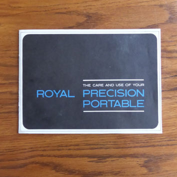 Royal Precision Portable User's Manual - Vintage Typewriter User's Manual - Royal Safari, Custom, User Guide - Vintage Typewriters Guide