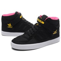 ADIDAS Black Logo Print High Tops Trending Fashion Casual Sports Shoes Sapphire G-CSXY