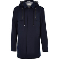 River Island MensNavy Holloway Road structured coat