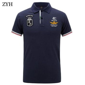 CREYLD1 Men polo 2018 Summer High Quality Brand Cotton Polo Shirt Business Casual Pilot Polo Shirt Solid polo shirt Brand  clothing
