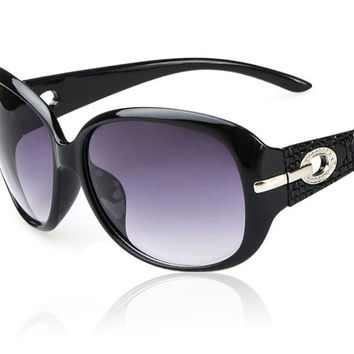 Womens Retro Oval Sunglasses