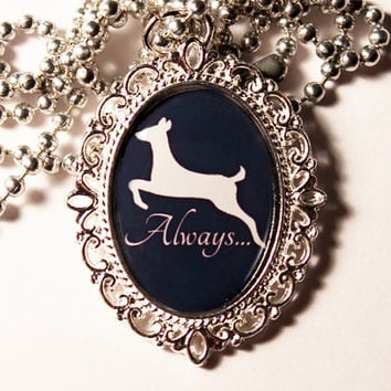 Always Doe Patronus Severus Snape Harry Potter Cameo Necklace