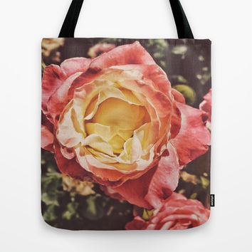 Rosey Posey Tote Bag by DuckyB (Brandi)