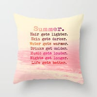 Summer in Pink Throw Pillow by M✿nika  Strigel	 | Society6