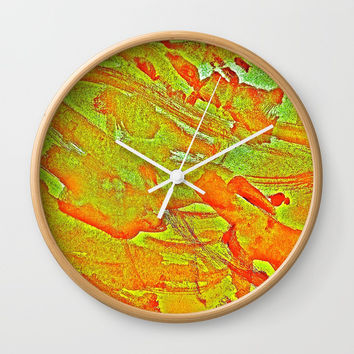 Bloody-Nature Abstract Wall Clock by GittaG74