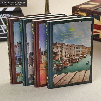 Town Notebook 114Sheets 2017 Planner Sketchbook Diary Note Book Office Journal Stationery School Supplies Hardcover Vintage