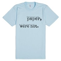 Paper Towns-Unisex Light Blue T-Shirt