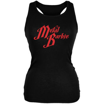 Metal Barbie Black Juniors Soft Tank Top