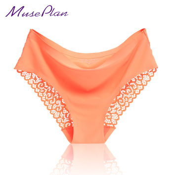 women's sexy lace panties seamless cotton breathable panty hollow briefs Plus Size girl best brand underwear