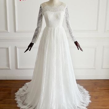 Jark Tozr Custom Made Long Sleeve Bridal Gowns Online Shop China Vestidos De Renda Lace Wedding Dresses Bodas Aliexpress Login