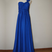 Enhancing A-line One-shoulder Floor Length Prom Dress