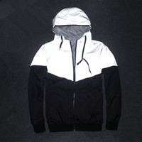 Reflective Waterproof Windbreaker Men Coat